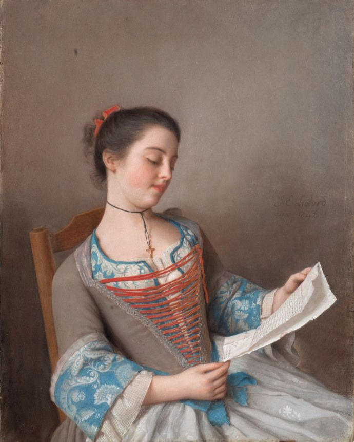 La liseuse (The Reader) by Jean-Étienne Liotard1746