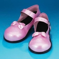 Pearl Pink Mary Jane Vinyl Clown Shoes: $25.00