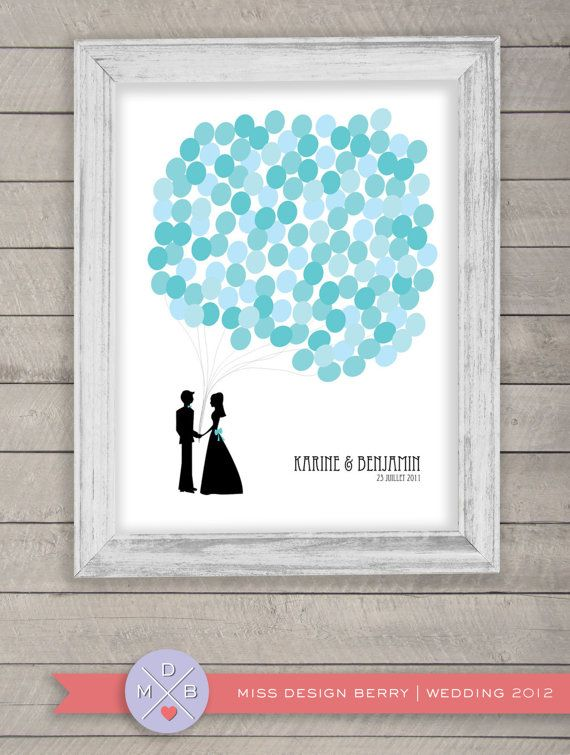 wedding guest book alternative - balloon bunch print