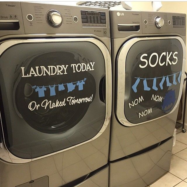 Update your Washer & Dryer with Vinyl and the Silhouette