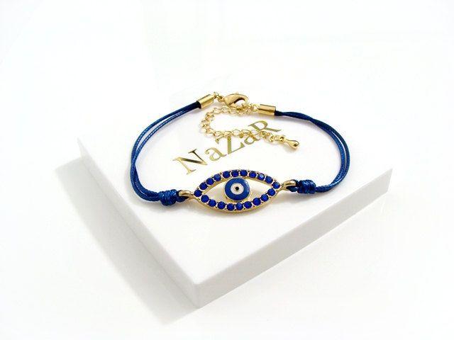 Evil Eye Bracelet  Evil Eye Jewelry  Dark blue Evil by EvilEyeGift, €6.90