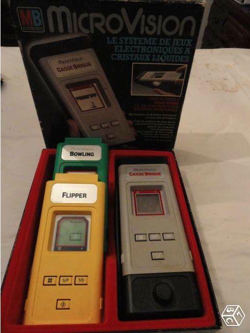 MicroVision: Jeu électronique MB Microvision des années 80 3 jeux : casse brique + flipper + bowling: