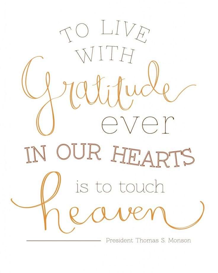 Gratitude in our Hearts - President Monson Free Printable!!
