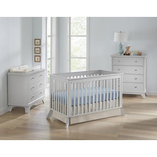 """Sealy Bella 3-in-1 Standard Crib - Tranquility/Deco Gray - Sealy Mattresses  - Babies""""R""""Us"""