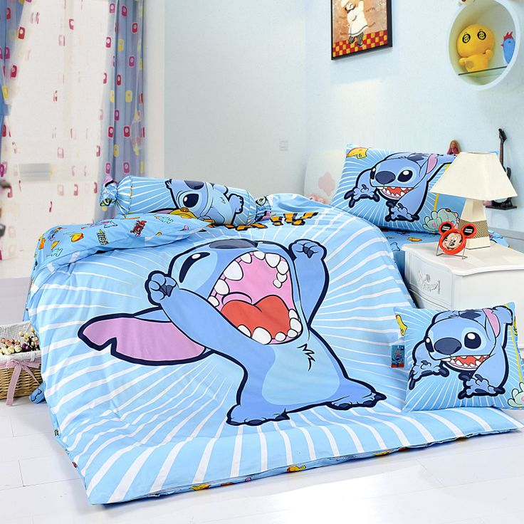 Stitch Sky Blue Disney Bedding Sets- why did I never know about this?!!?