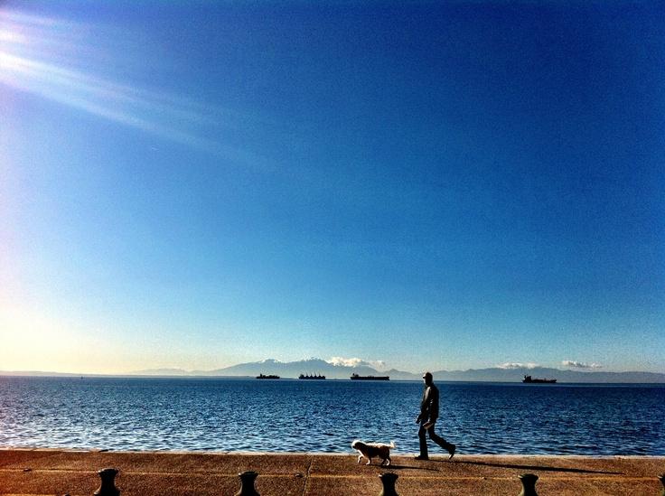 Walking, Waterfront,Thessaloniki, Greece