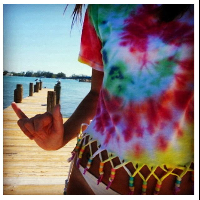 So cute! Wanna do!: Summer Shirts, Idea, Ties Dyes Shirts, Beads, Tye Dyes, T Shirts, Fringes, Diy, Covers Up