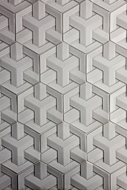 Daniel Ogassian; Glazed Ceramic 'GeoWeave' Tiles for Ann Sacks.