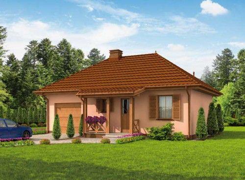 Projekt domu PT ANDALUZJA SZKIELET DREWNIANY LETNISKOWY - DOM PD2-40 - gotowy projekt domu