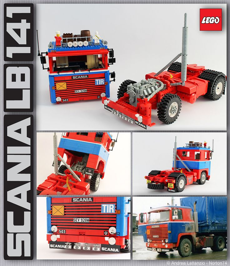 "SCANIA LB 141 ""PAT DUFFY"" 1:13 SCALE LEGO® MODEL"