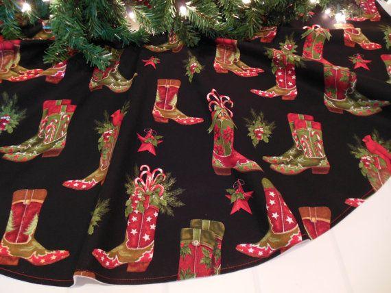 Christmas Tree Skirt Western Tree Skirt by KaysGeneralStore, $55.00