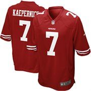 Celebrate your San Francisco 49ers fandom with this Game Football jersey by Nike. It features printed San Francisco 49ers and Colin Kaepernick graphics letting everyone know who you cheer for. You will boast your team spirit with this San Francisco 49ers jersey!