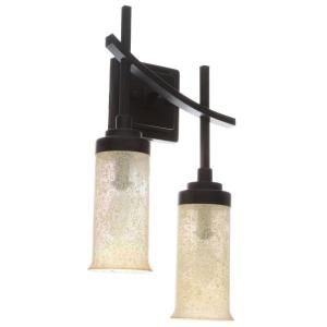 Hampton Bay 2 Light Iron Oxide Sconce 18012 At The Home Depot