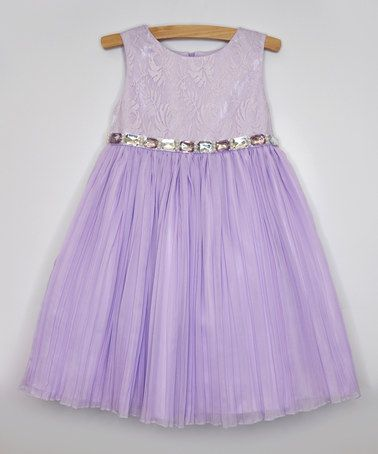 179e82053174 Love this Lilac Chiffon Rhinestone Dress - Infant & Toddler by Princess  Faith on #zulily! #zulilyfinds | Jelli-Bean | Rhinestone dress, Lilac  bridesmaid ...