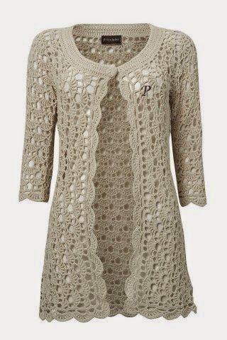 Ivelise Feito à Mão: Casaco Lindo Em Crochê