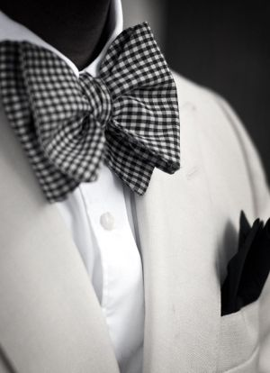 If you go with a regular button down white shirt, I recommend splurging on a really stellar bow tie for the event