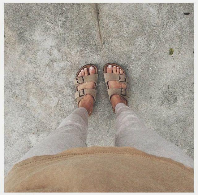 Lily The Wandering Gypsy: Neutrals, White + Tan, Birkenstocks