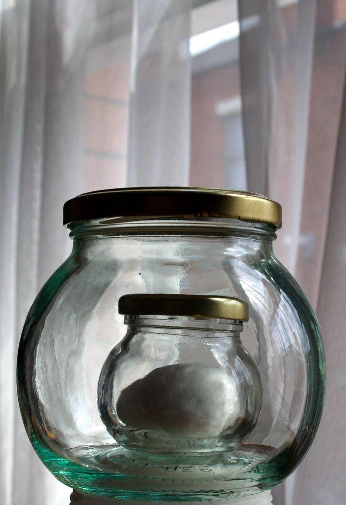 https://flic.kr/p/87sGa1   Cotton wool within another jar