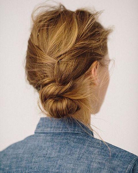 Pretty pinned back hair
