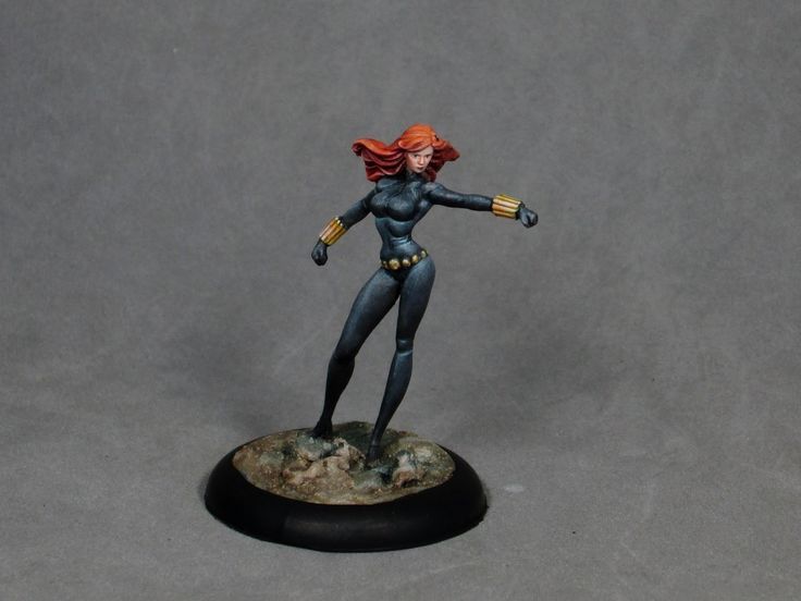Painting tutorial for Black Widow