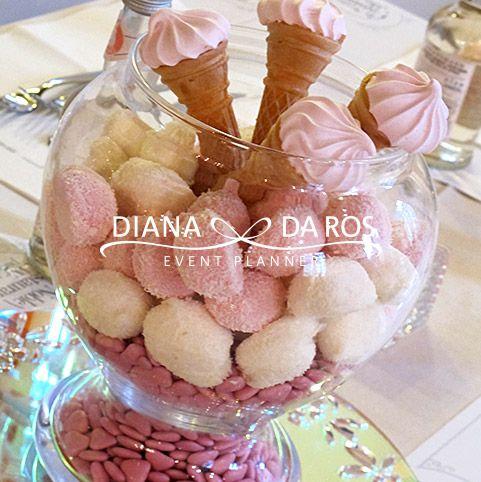 candies babypink centerpiece-babyshower-girl - centrotavola by Diana Da Ros Event Planner