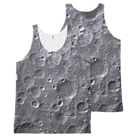 Moon surface All-Over-Print tank top - click/tap to personalize and buy