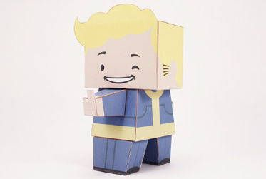 Fallout 3 - Bobblehead - Agility Vault Boy Free Paper Toy Download - http://www.papercraftsquare.com/fallout-3-bobblehead-agility-vault-boy-free-paper-toy-download.html#BobbleheadAgility, #Fallout, #VaultBoy