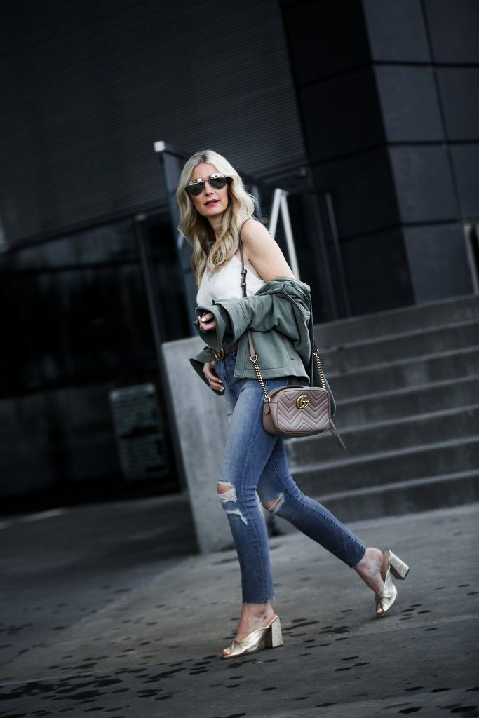 Army Jacket Styled 2 Ways   Spring Outfits Women