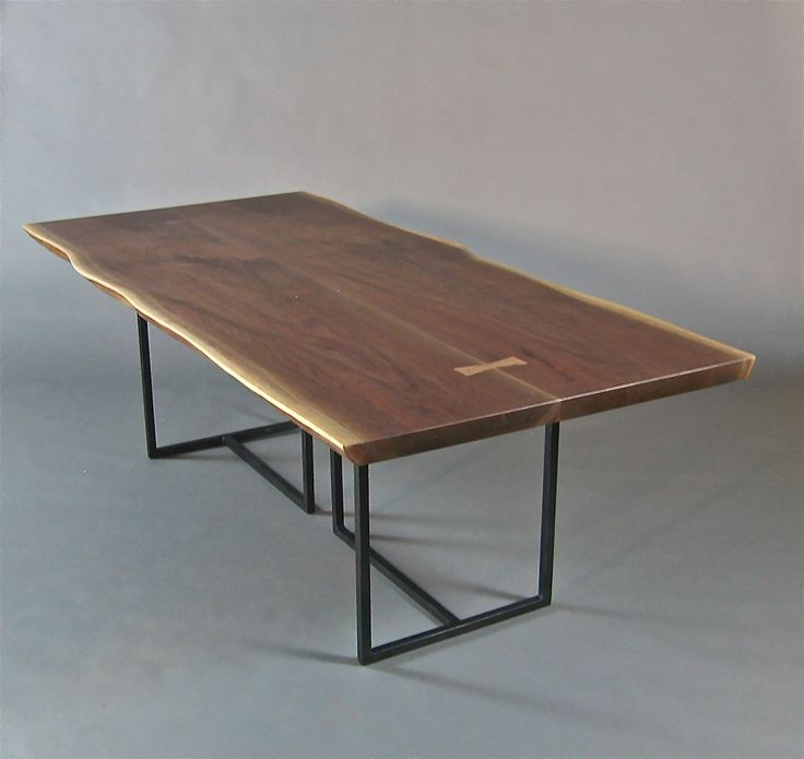 live edge tables | Handmade Walnut Slab Live Edge Dining Table. by Bernwood Custom Design ...