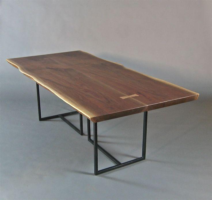 live edge tables | Handmade Walnut Slab Live Edge Dining Table. by ...