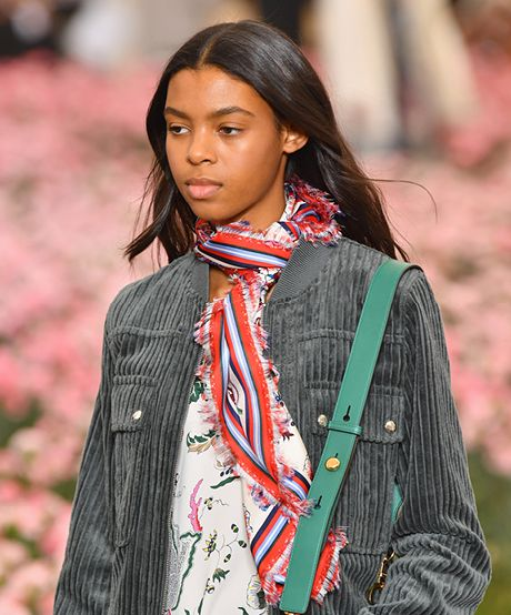 The Trend: Tory Burch's Silky Lengths—Say hello to the definition of casual luxury. Ever so slight bends in the hair—we're talking a whisper of a bow—offer the ultimate je ne sais quoi quality.