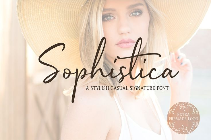 Sophistica -Stylish Font Duo +Extras by UnionHands on @creativemarket #AD