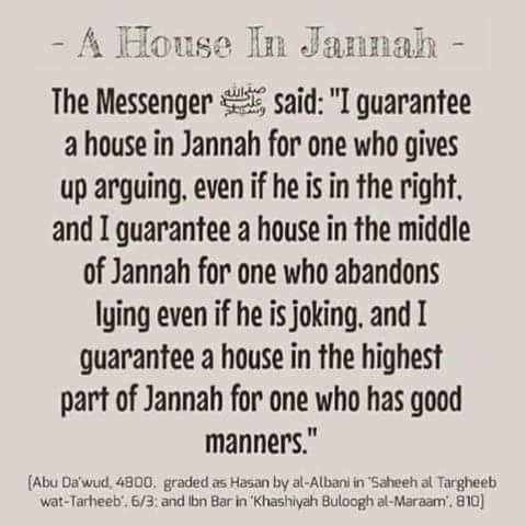 The Prophet Mohammed pbuh guarantees Jannah for....