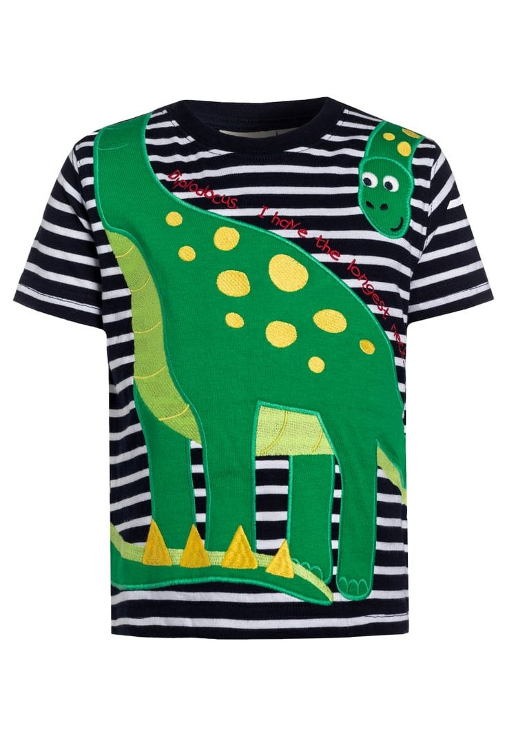 Köp JoJo Maman Bébé DIPLODOCUS - T-shirt med tryck - navy/white för 199,00 kr (2017-02-18) fraktfritt på Zalando.se