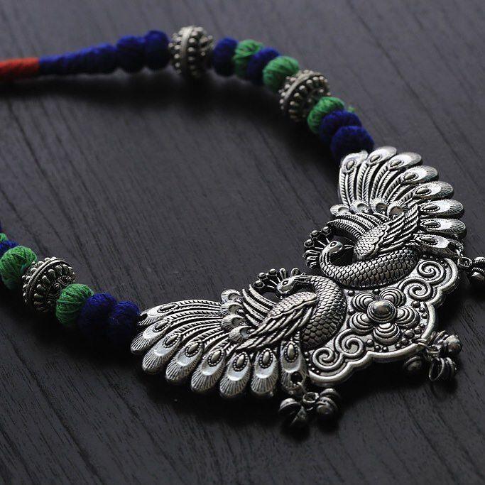 #tribal #tribaljewelry #peacock #rabari #aristabeads #boho #boho #beach #summer2016 #onmytabletoday #oneofakindjewelry #thread #handmade