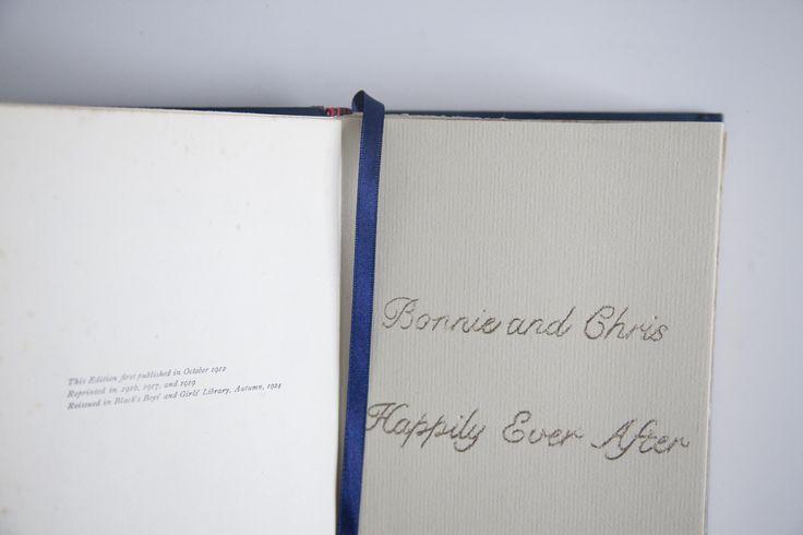 Fairy Tale Vintage Handmade  Wedding Guest Book Commission #weddingguestbook #guestbook #bespokeguestbook #wedding #bespokewedding #vintageguestbook #handmade #handmadeguestbook