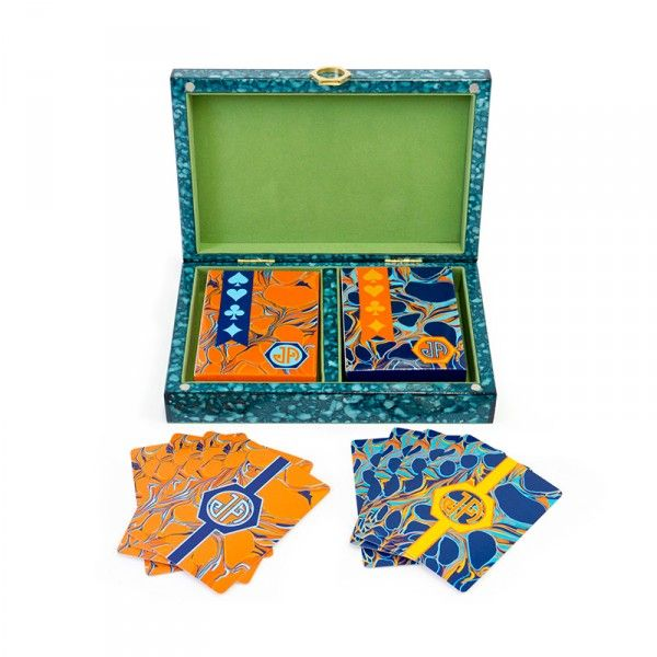 The Best Ways To While Away Thanksgiving Day   The Zoe Report: Toulouse Playing Card Set, Jonathan Adler, $98