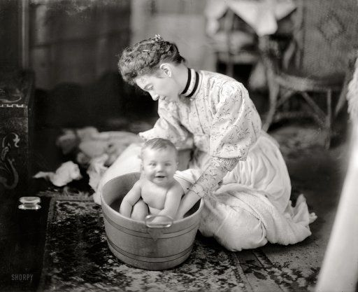 Circa 1905 Quot Martha Harris Baby Being Washed Quot Maybe One