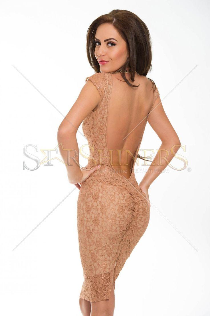 PrettyGirl Charming Style Brown Dress