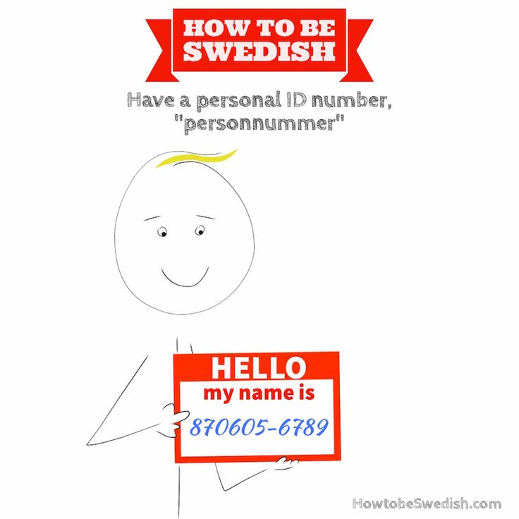 Get a Swedish personal identity number personnummer - How to be Swedish