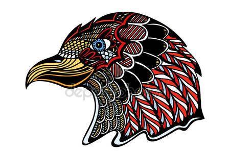 Color Eagle head — Ilustración de stock #113187980