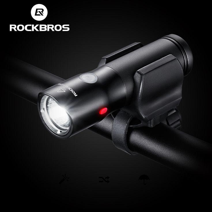 ROCKBROS Bicycle Light Power Bank Waterproof USB Rechargeable Bike Light Side Warning Flashlight 700 Lumen 18650 2000mAh 6 Modes