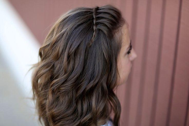 Faux Waterfall Braid Headband   Cute Girls Hairstyles