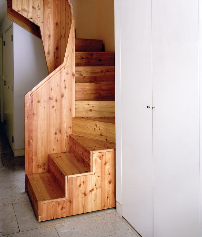 Bespoke staircase by Luke Tozer - amazing use of a small space