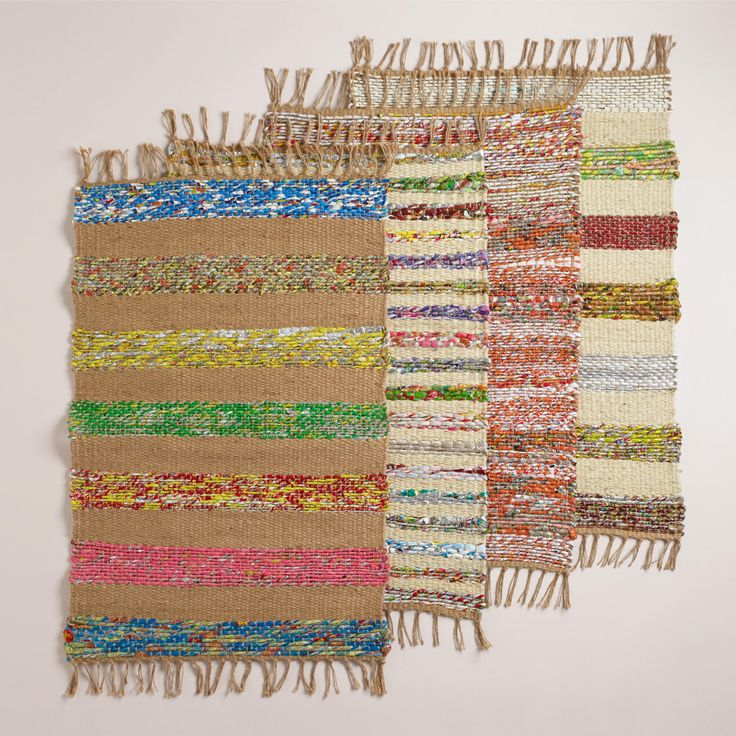 Cost Plus World Market Candy Wrapper And Jute Woven Ru