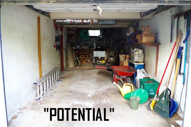 Garage Before - Plaster & Disaster