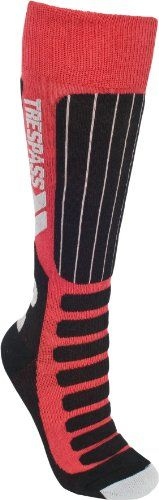 From 4.62 Trespass Kids Gateway Ski Socks Red Size 9/12