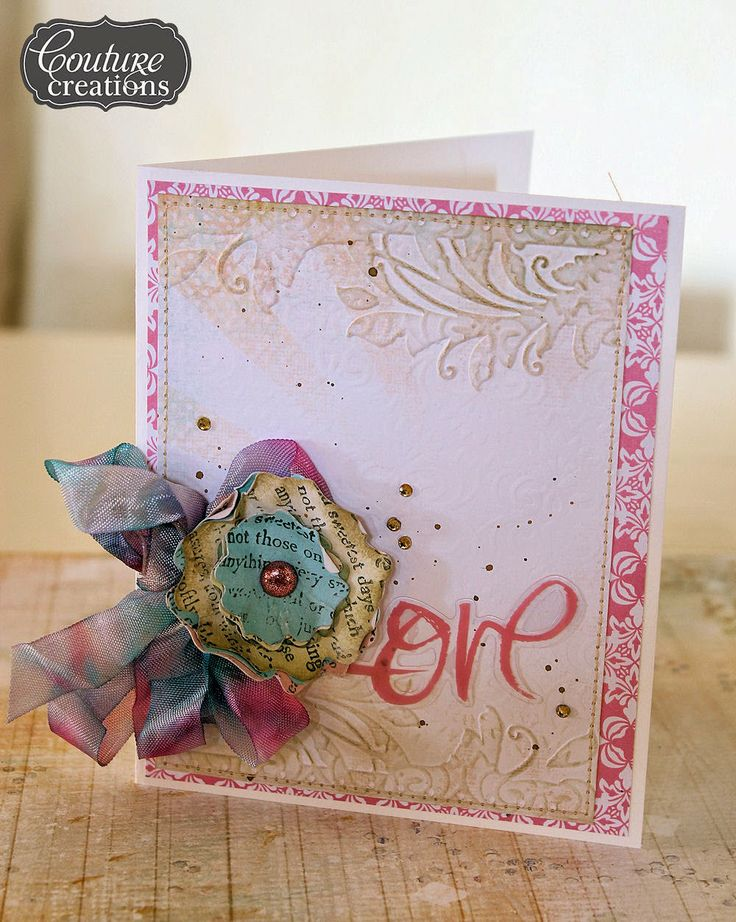 Couture Creations: Love Card by Jowilna Nolte | #couturecreationsaus #cards #embossingfolders #nestingdies #love #alloccasions