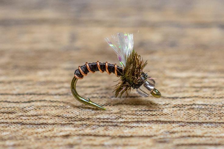 Top Secret Midge-Mercury Olive BWO Fly Fishing Flies NEW