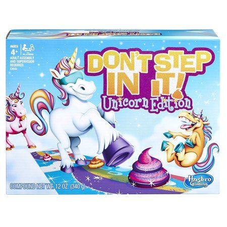 Hasbro dont step in it game unicorn edition